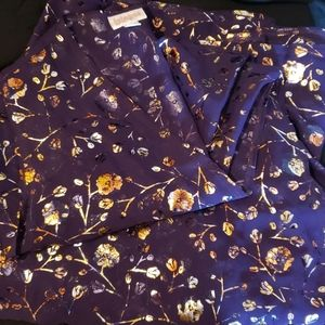 Lularoe Joy metallic rose gold and purple